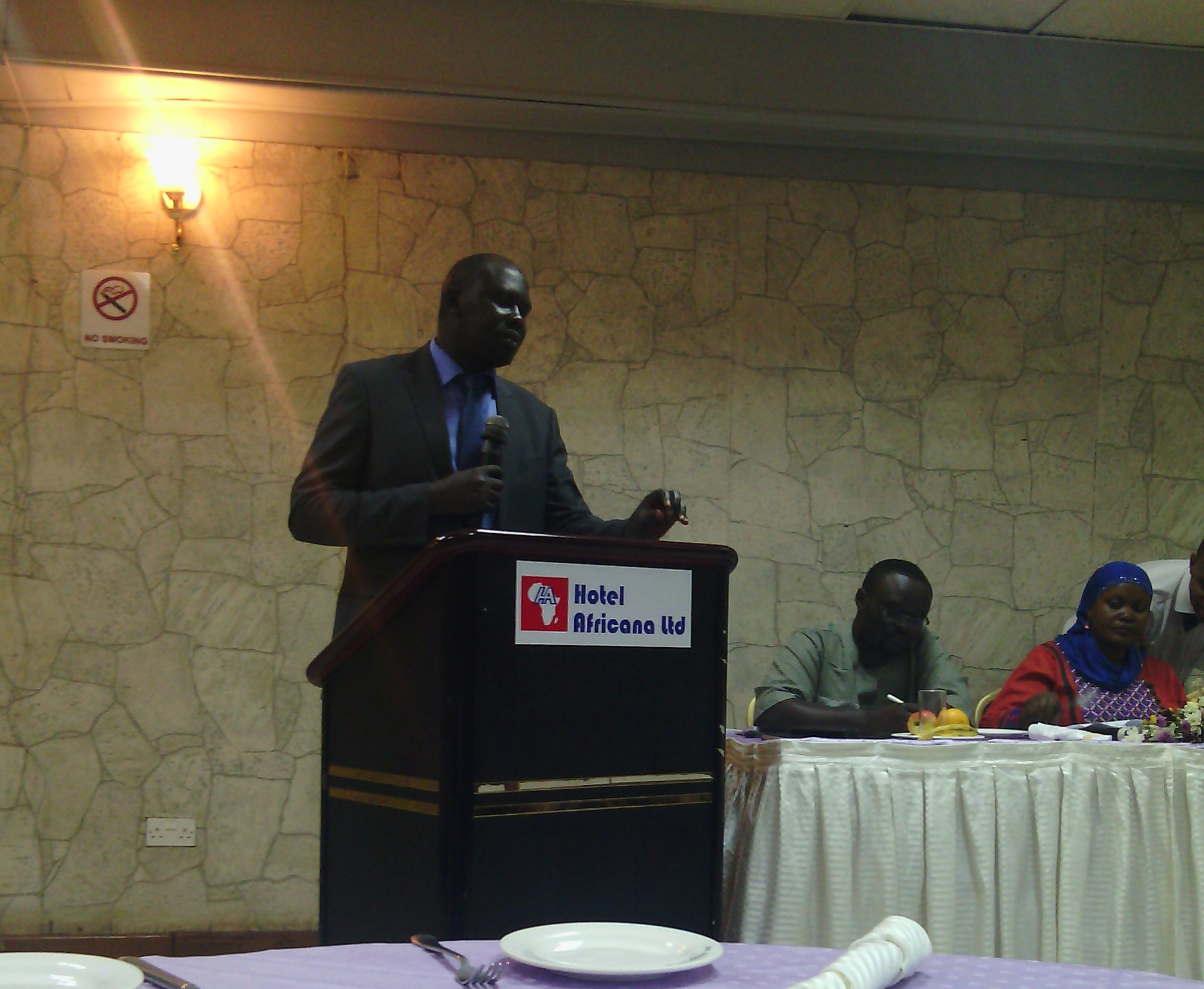 Chapter Four's Peter Magelah makes presentation