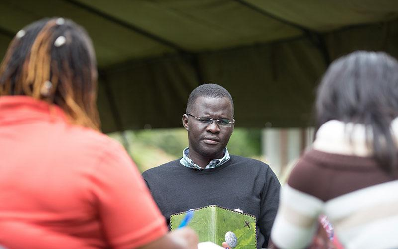 Small group session on day 2 with Nicholas Opiyo, Uganda