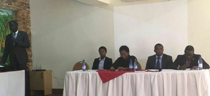 Panelists at the press conference held on August 16, 2016 at Fairway Hotel in Kampala