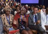 Meeting of young African leaders talking with President Obama before the U.S.-Africa Summit convened - Photo Courtesy - CNN