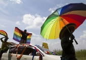 Gay pride rally in Entebbe. File photo. Credit: The Observer / Internet