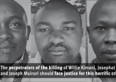 Bodies of human rights lawyer Willie Kimani, his client Josephat Mwenda, and their driver Joseph Muiruri were found dumped in a river after enforced disappearance. Photo credit: HRW